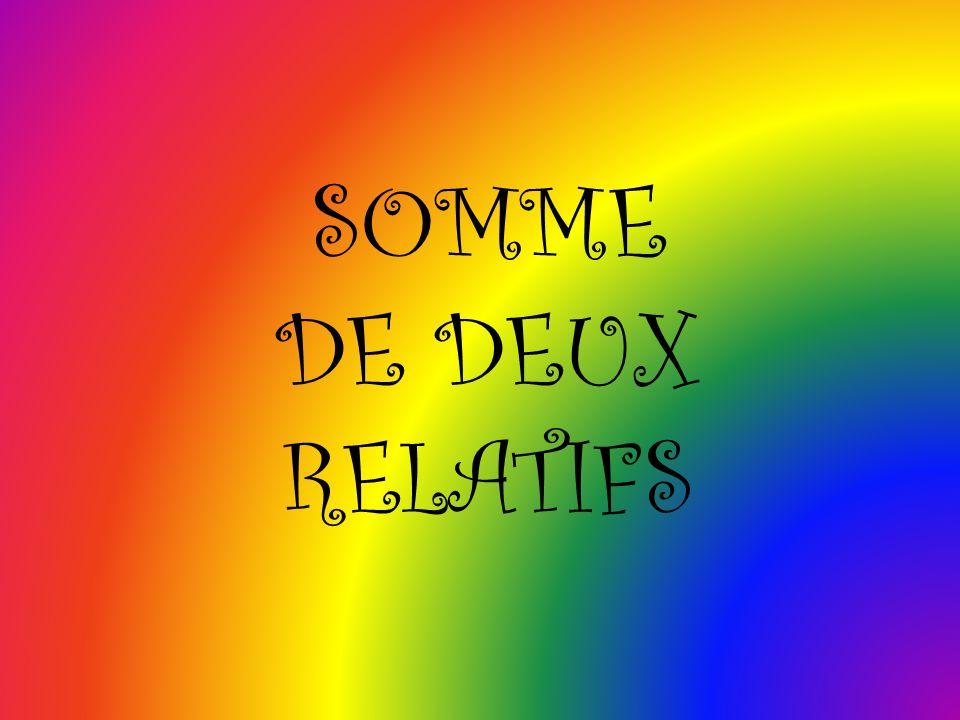 SOMME DE DEUX RELATIFS