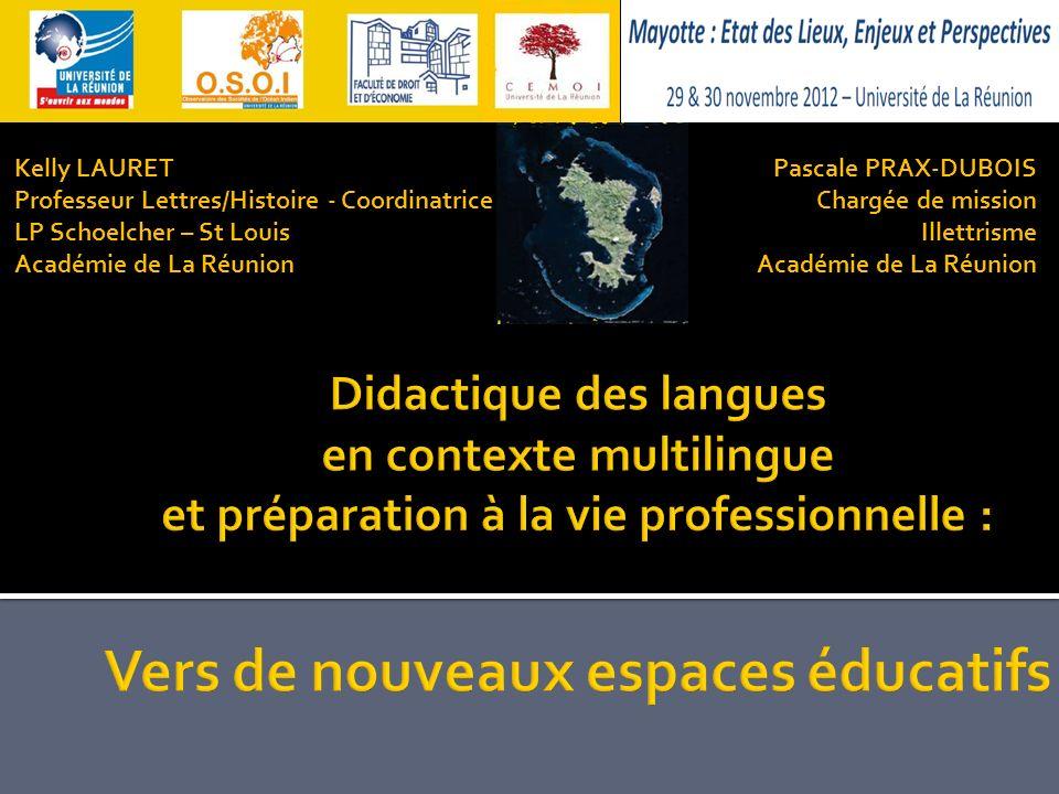Pascale PRAX-DUBOIS Chargée de mission Illettrisme Académie de La Réunion Kelly LAURET Professeur Lettres/Histoire - Coordinatrice LP Schoelcher – St