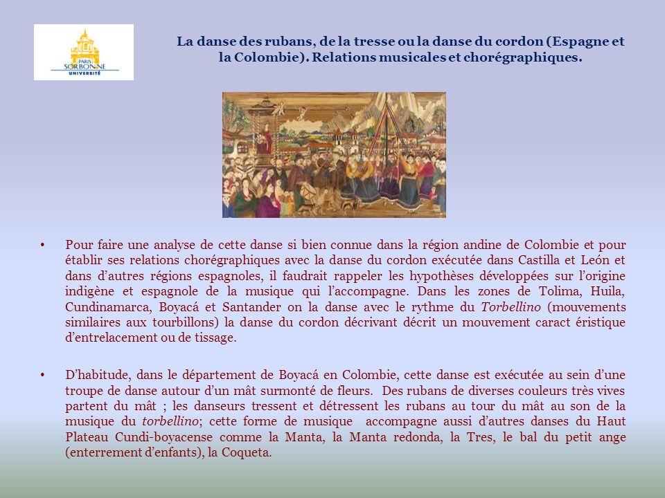 Pour faire une analyse de cette danse si bien connue dans la région andine de Colombie et pour établir ses relations chorégraphiques avec la danse du