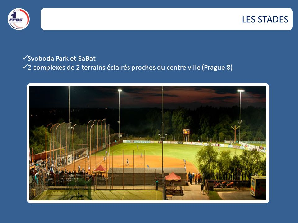 LES STADES Svoboda Park et SaBat 2 complexes de 2 terrains éclairés proches du centre ville (Prague 8)