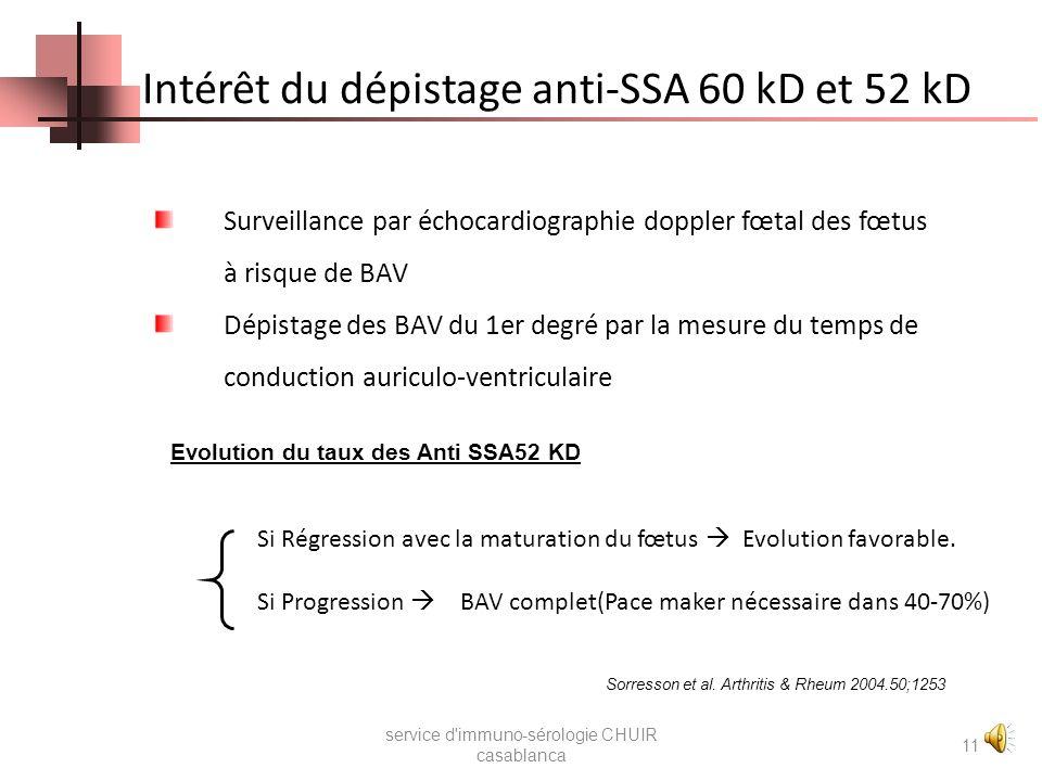Anti SSA/ Ro service d'immuno-sérologie CHUIR casablanca 10 Figure 3 : Aspect typique des Anti SSA Ro à lIFI sur cellules Hep2