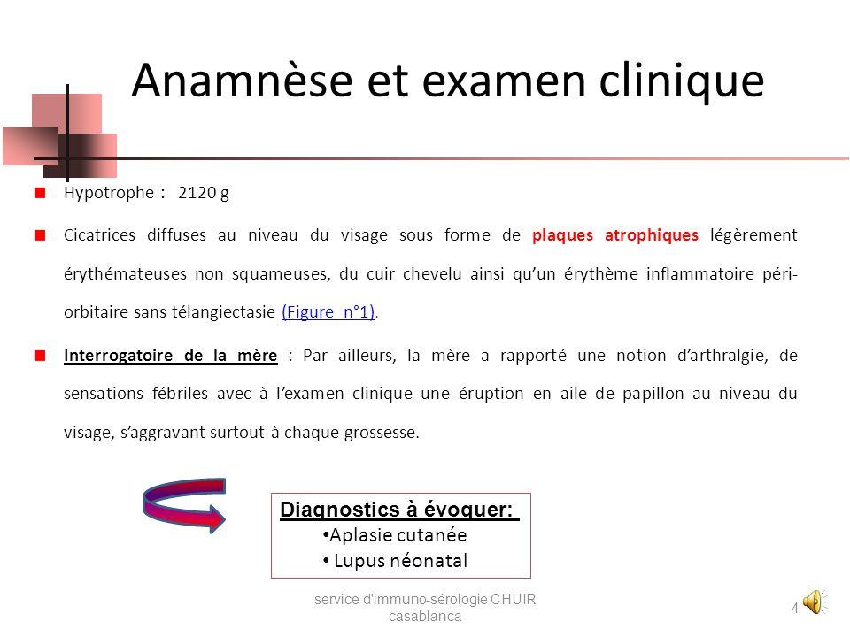 Résultats Anticorps anti-nucléaire (IF indirecte hep2) : Positif ( titre: 1280 ) Aspect moucheté Anticorps anti DNA natif ( IFI sur CL) : Négatif Rech