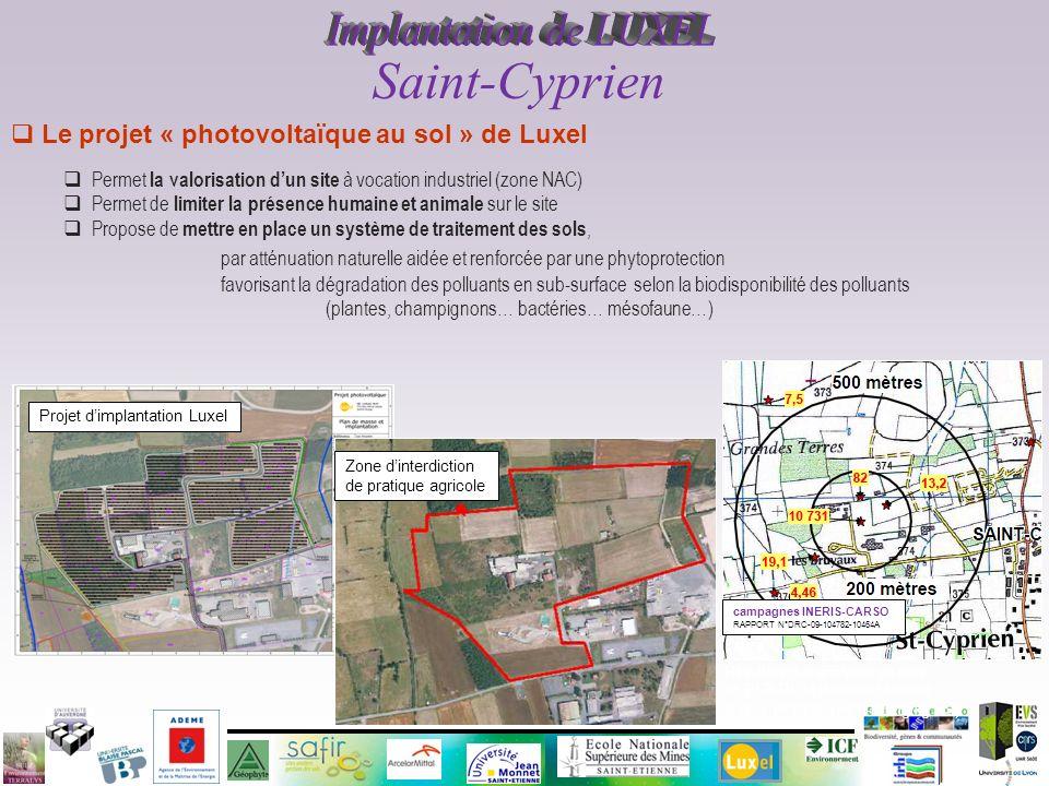 Le projet « photovoltaïque au sol » de Luxel Permet la valorisation dun site à vocation industriel (zone NAC) Permet de limiter la présence humaine et