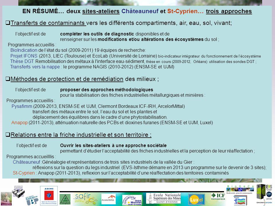 Merci…. GESIPOL 2013 3 projets pour 2 sites ateliers Industeel / St Cyprien EN RÉSUMÉ… deux sites-ateliers Châteauneuf et St-Cyprien… trois approches
