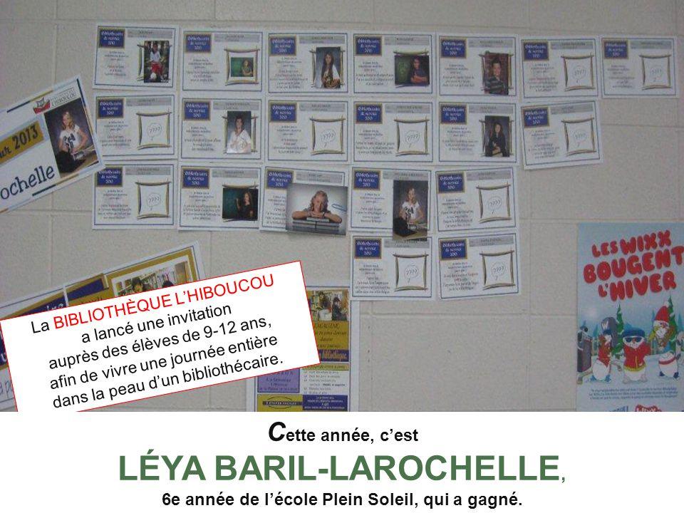 La BIBLIOTHÈQUE LHIBOUCOU a lancé une invitation auprès des élèves de 9-12 ans, afin de vivre une journée entière dans la peau dun bibliothécaire. C e