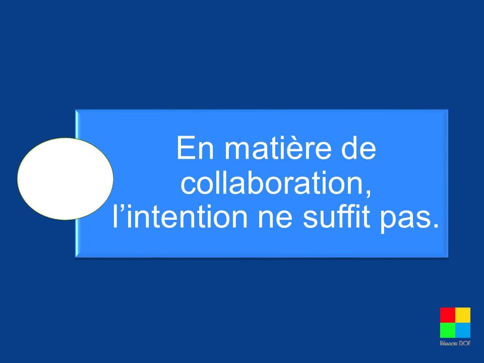 La collaboration est un type de relation.