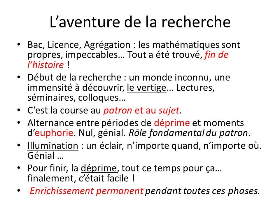 Lavenir des mathématiques en France Des problèmes en vue (!) On constate une baisse des effectifs dans les disciplines scientifiques y compris en mathématiques.