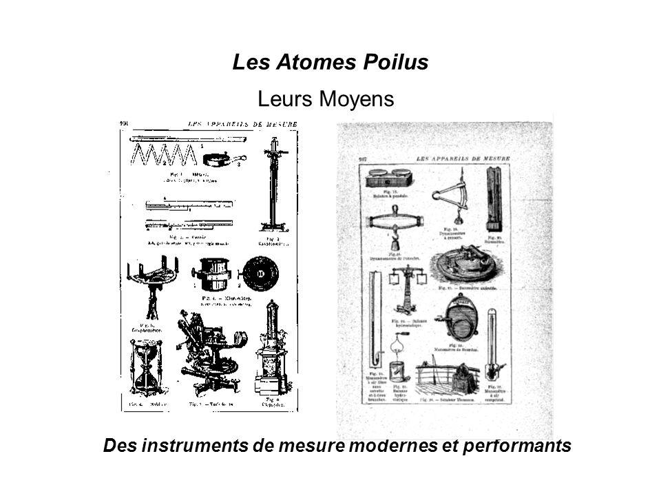 Les Atomes Poilus Leurs Moyens Des instruments de mesure modernes et performants Leurs Moyens