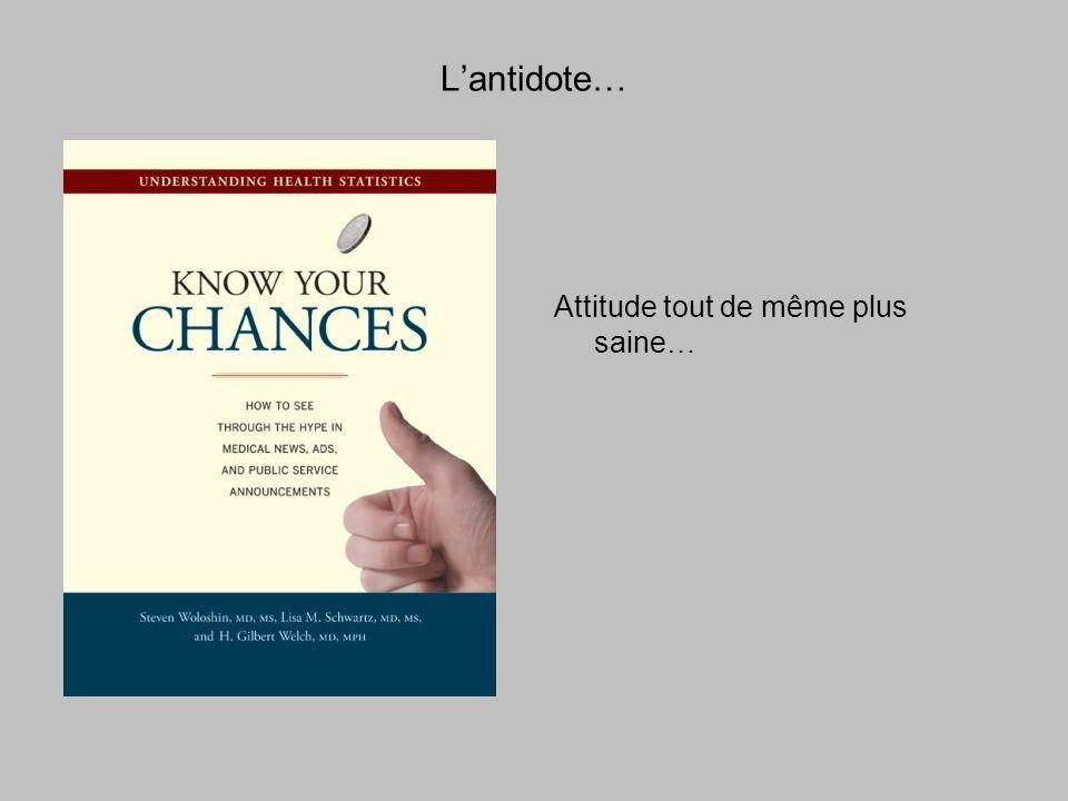 Lantidote… Attitude tout de même plus saine…
