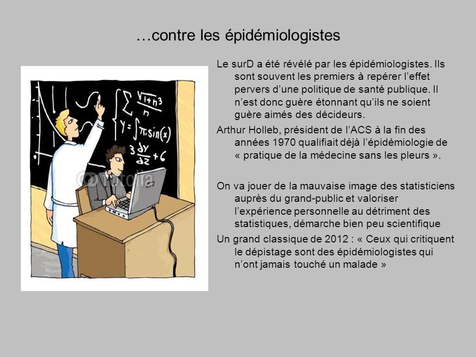 …contre les épidémiologistes Le surD a été révélé par les épidémiologistes.