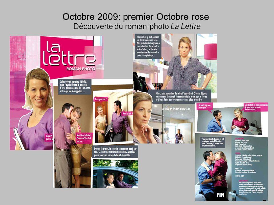 Octobre 2009: premier Octobre rose Découverte du roman-photo La Lettre