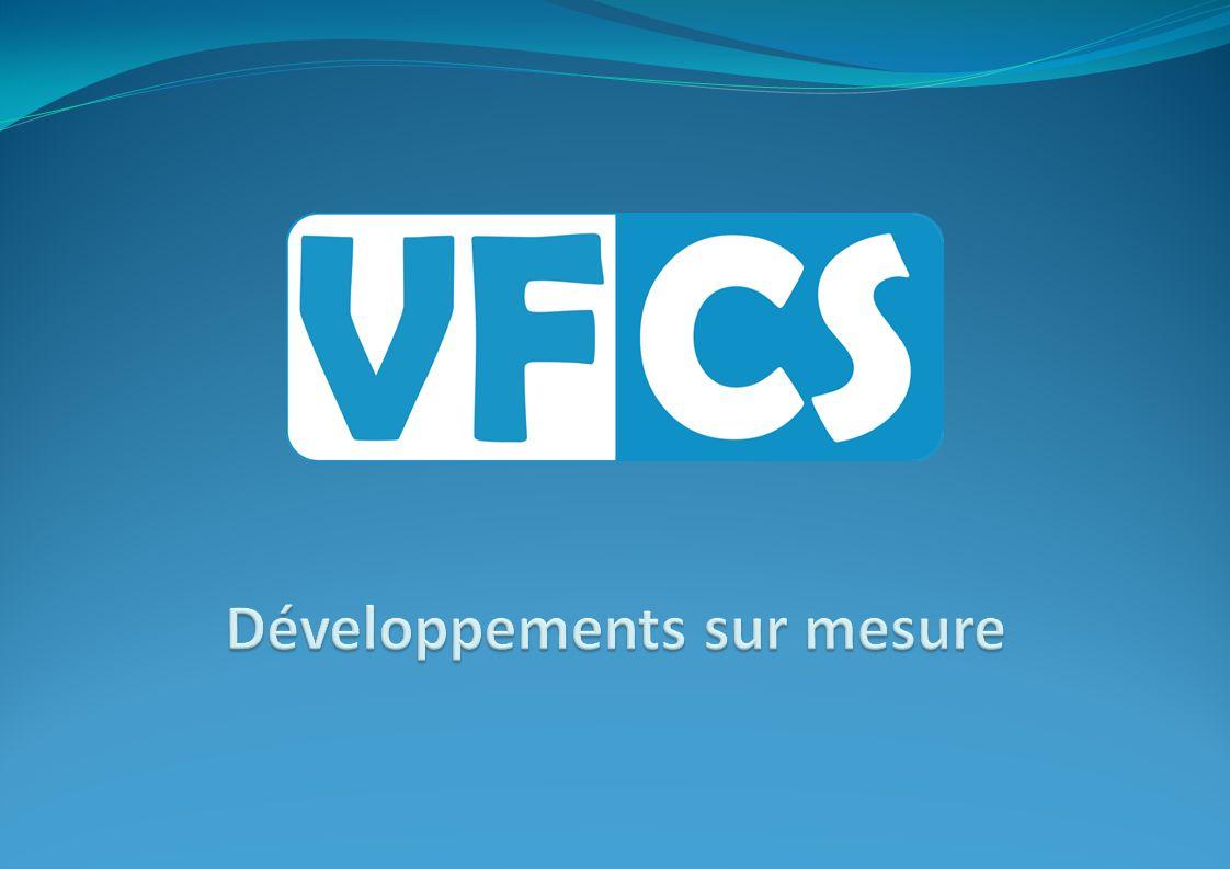 Solutions avec bases de données Gestion de bases de données MS Access, SQL, MySQL, … Création de bases de données pour tout type dapplications Commerciales Dadministration De production … Création de reportings Calculs et statistiques VFCS Sprl - Rue des Pommiers, 6A – B-4680 Oupeye GSM: +32 478 95.11.61 - E: info@vfcs.beinfo@vfcs.be Site Web : http://www.vfcs.behttp://www.vfcs.be