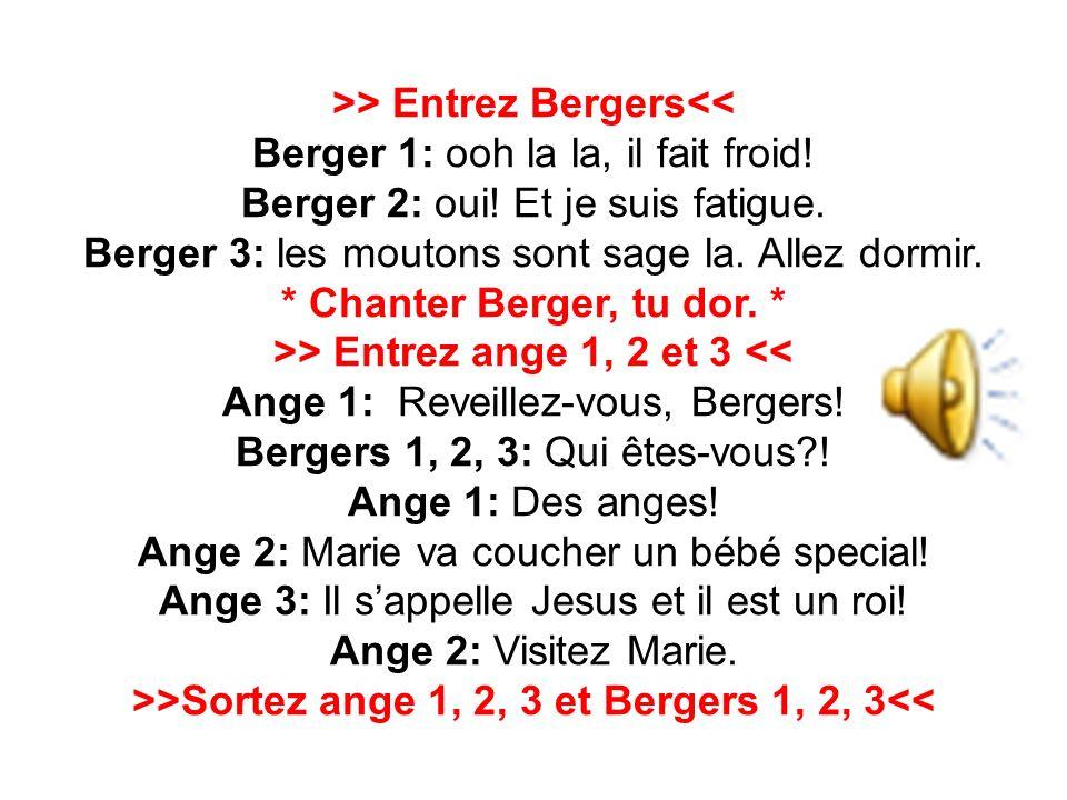 >> Entrez Bergers<< Berger 1: ooh la la, il fait froid.