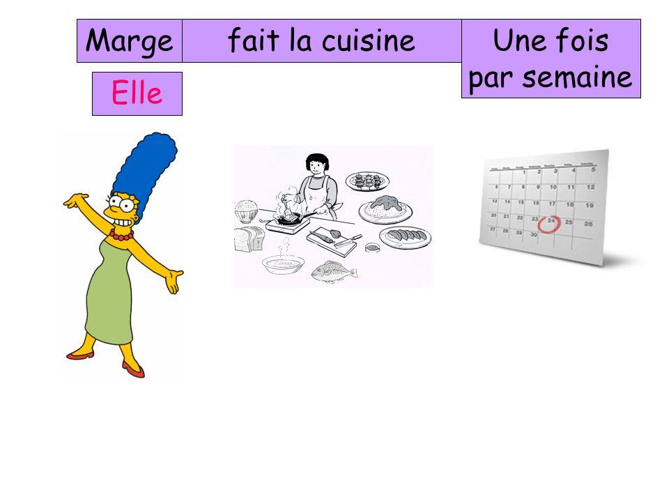 Marge Elle fait la lessiveUne fois par semaine
