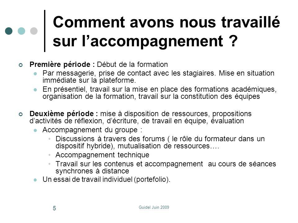 Guidel Juin 2009 Le vécu….