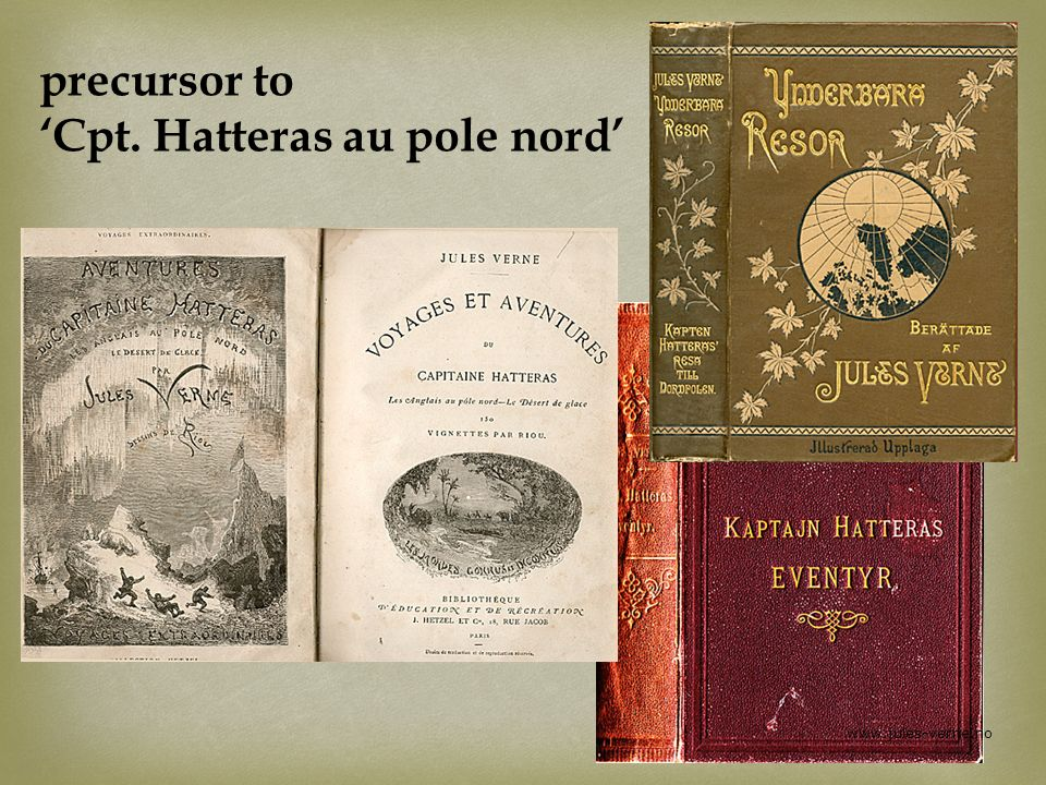 precursor to Cpt. Hatteras au pole nord www.jules-verne.no
