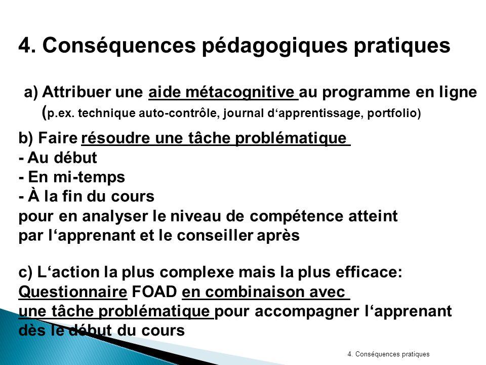 4. Conséquences pratiques 4.