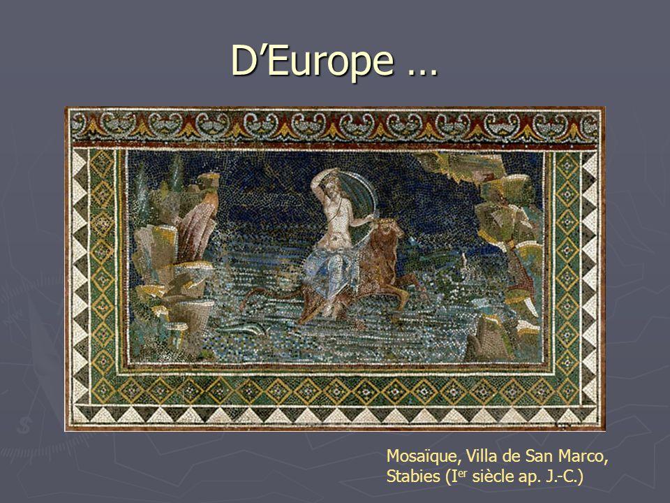 DEurope … Mosaïque, Villa de San Marco, Stabies (I er siècle ap. J.-C.)