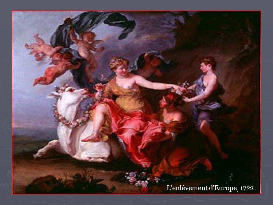 7 Ensuite, « Europe tremblante regarde le rivage qui fuit; elle attache une main aux cornes du taureau; elle appuie l autre sur son dos; et sa robe légère flotte abandonnée à l haleine des vents.