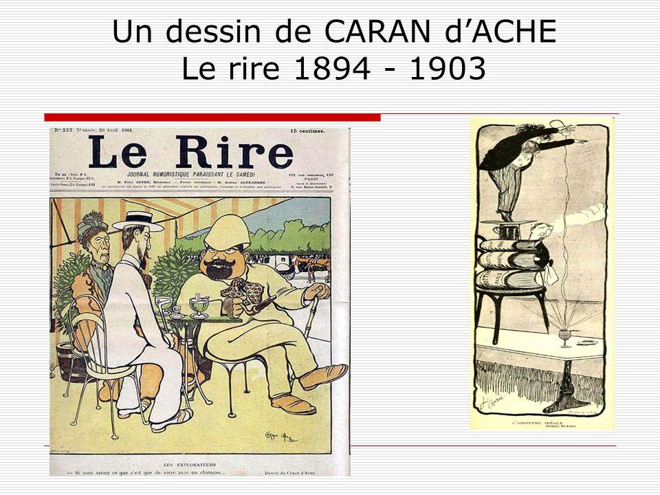 Un dessin de CARAN dACHE Le rire 1894 - 1903