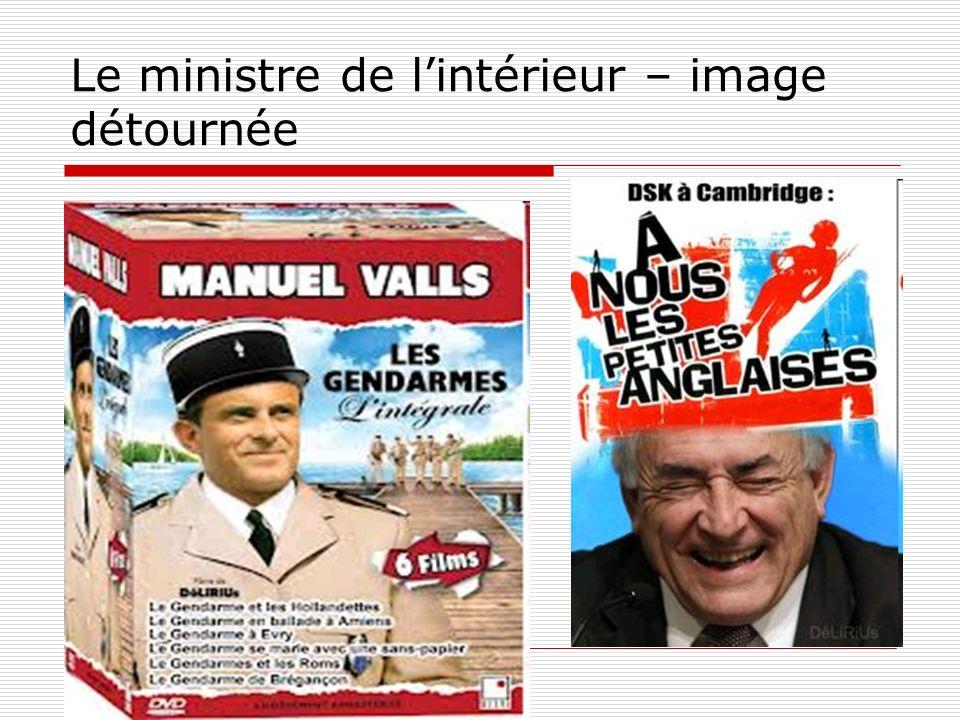 Le ministre de lintérieur – image détournée