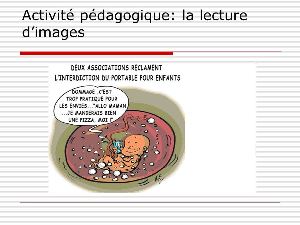 Activité pédagogique: la lecture dimages