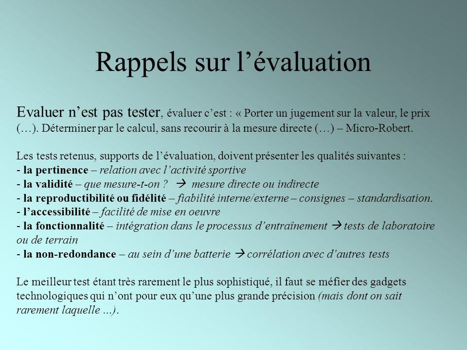 Rappels sur lévaluation Evaluer nest pas tester, évaluer cest : « Porter un jugement sur la valeur, le prix (…). Déterminer par le calcul, sans recour