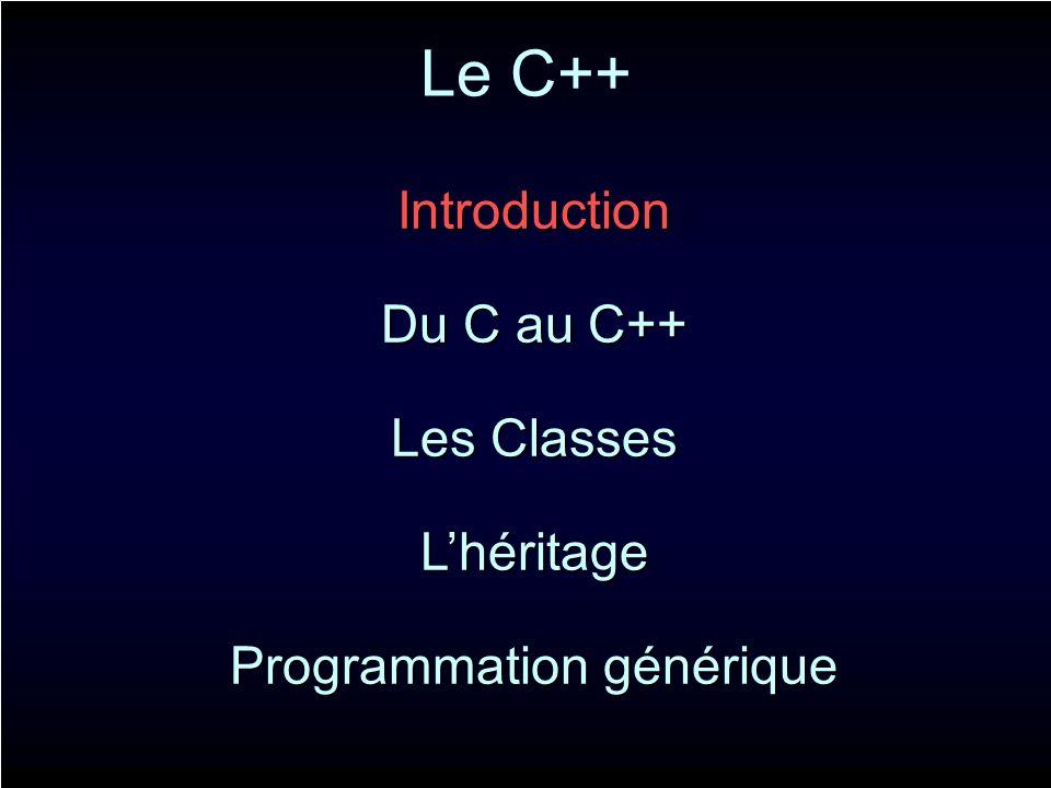 Allocation mémoire C int value = 10; int* var = (int*)malloc(sizeof(int)); *var = value; int* array = (int*)malloc(n*sizeof(int)); C++ int value = 10; int* var = new int( value ); int* array = new int[10]; En C++, les allocations sont typées.