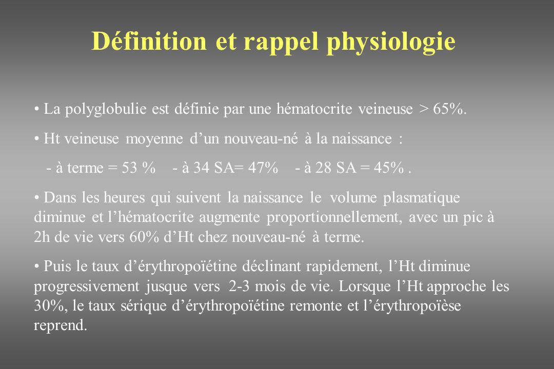 Physiopathologie Lorsque lHt augmente, la viscosité augmente, linéairement en dessous de 60% puis exponentiellement lorsque lHt est à 70% ou plus.