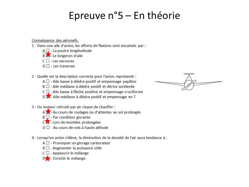 Epreuve n°5 – En théorie Barème - 50 point par bonne réponse, toute réponse incomplète sera considérée comme fausse.