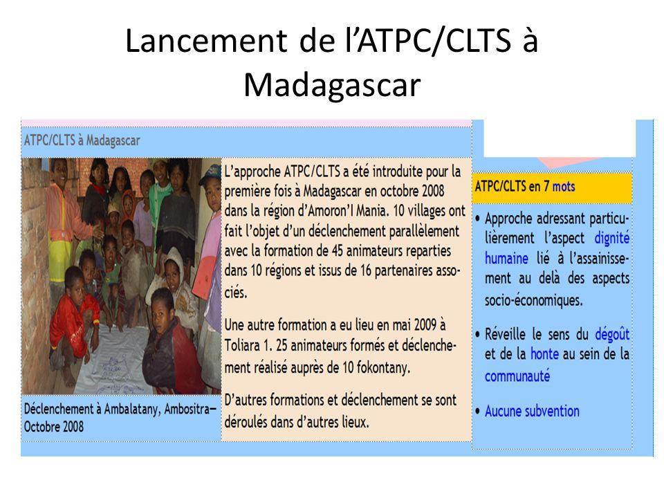 FAA: Recommandations du Dr Kamal Kar à lissu de sa mission à Madagascar du 17 Novembre au 3 Décembre 2011 Les recommandations de Kamal Kar ont été présentées, dans le but de voir comment instaurer la coordination et lharmonisation des activités CLTS des acteurs concernés.