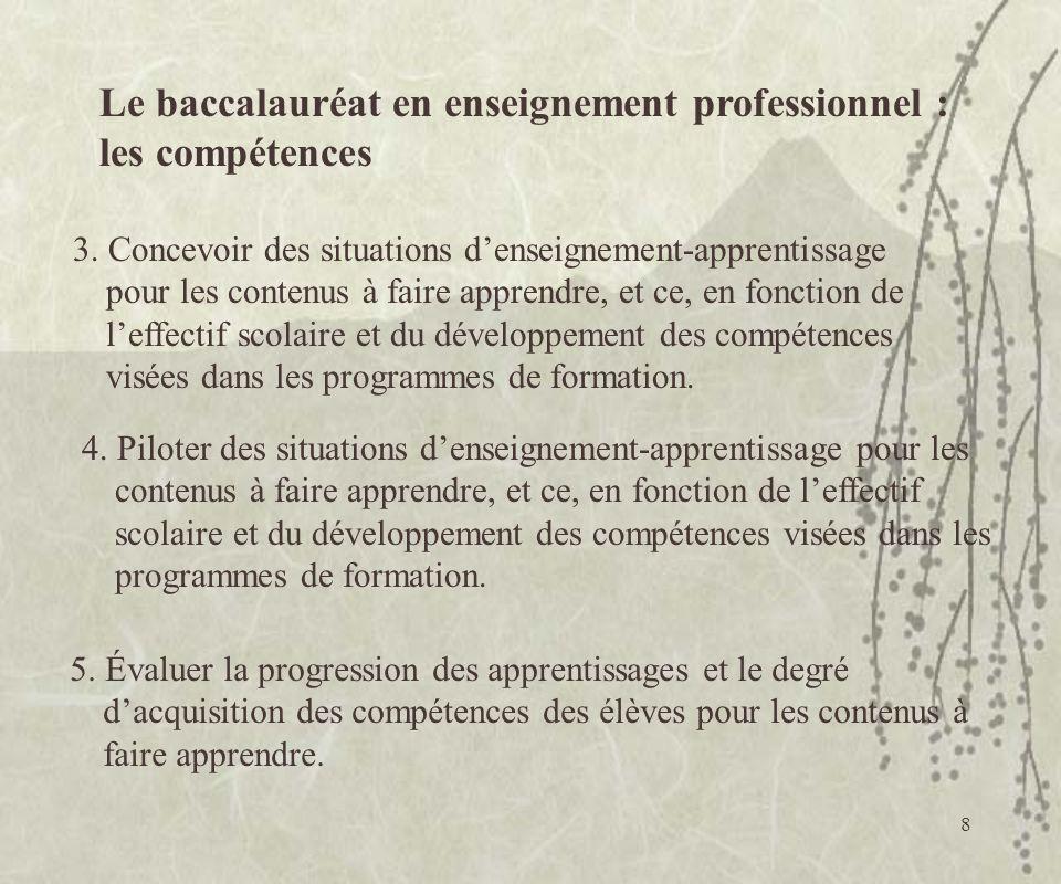 8 5. Évaluer la progression des apprentissages et le degré dacquisition des compétences des élèves pour les contenus à faire apprendre. 4. Piloter des