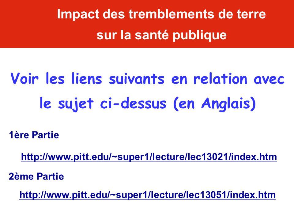 Voir les liens suivants en relation avec le sujet ci-dessus (en Anglais) 1ère Partie http://www.pitt.edu/~super1/lecture/lec13021/index.htm 2ème Parti