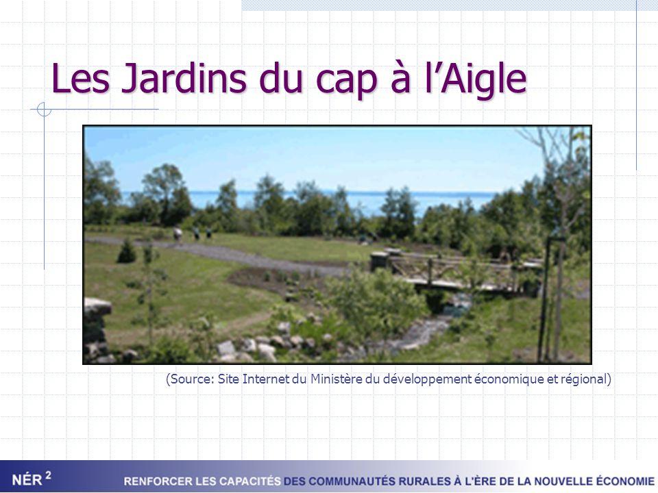 Les Jardins du cap à lAigle (Source: Site Internet du Ministère du développement économique et régional)
