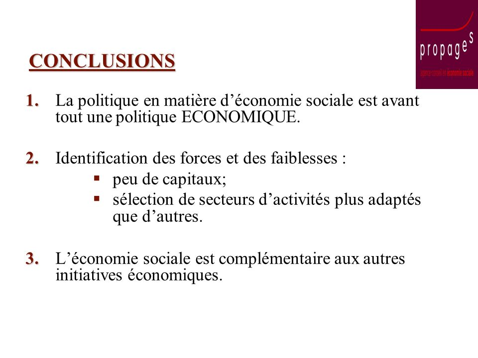 CONCLUSIONS 1. 1.
