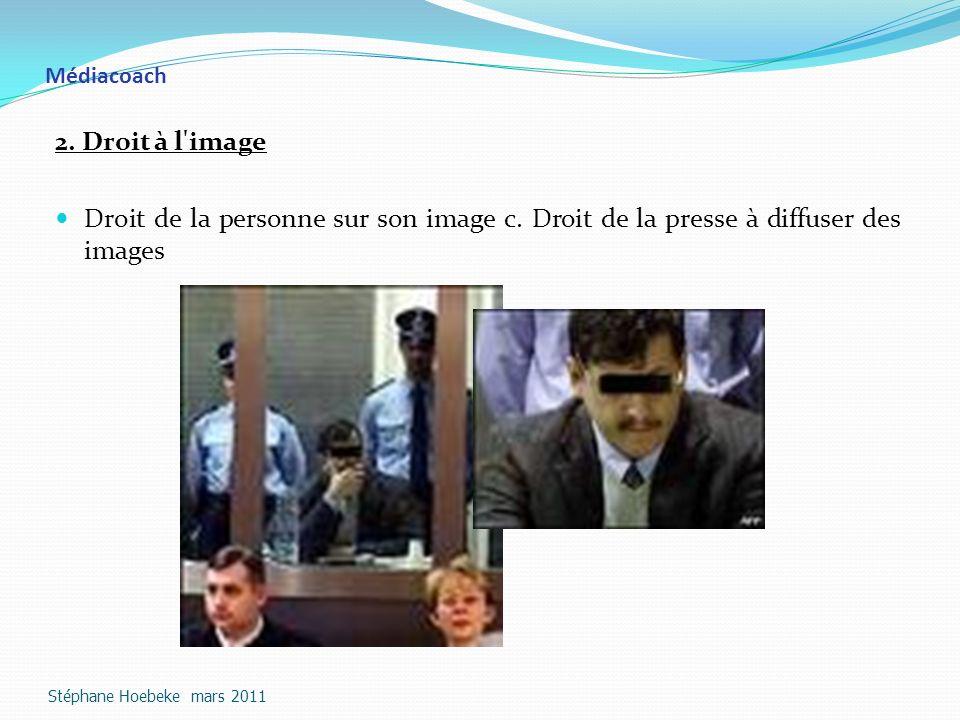 Médiacoach 2.Droit à l image Droit de la personne sur son image c.