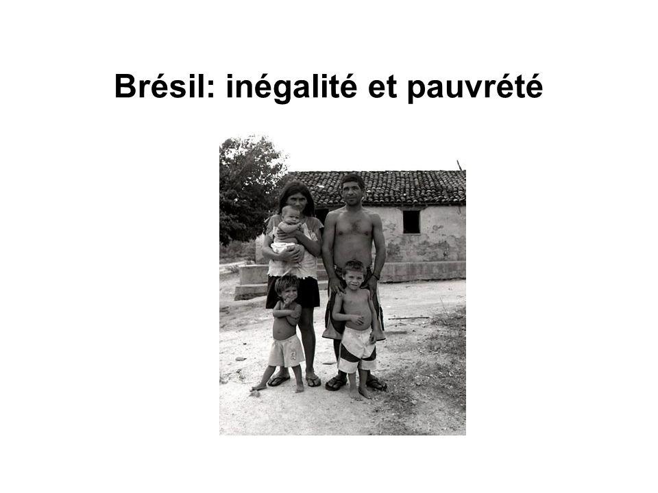 Brésil: inégalité et pauvrété