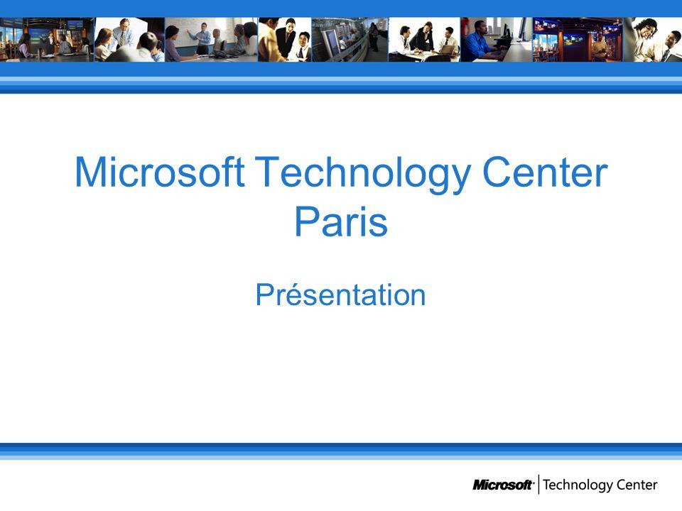 Microsoft Technology Center Paris Présentation