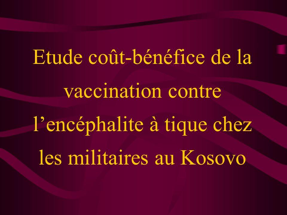 Etude coût-bénéfice de la vaccination contre lencéphalite à tique chez les militaires au Kosovo