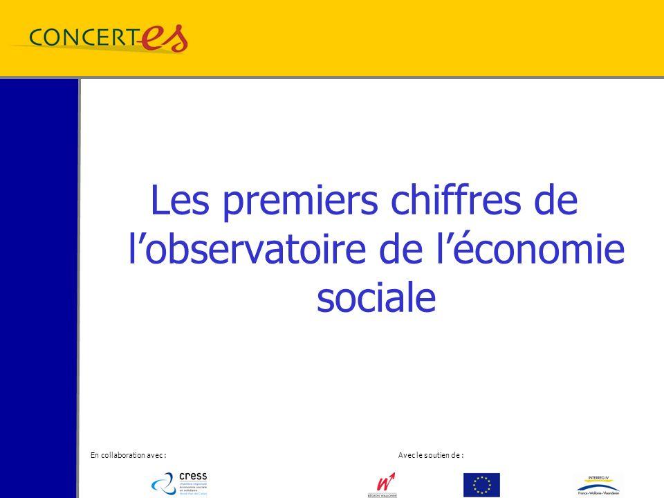 En collaboration avec : Avec le soutien de : Les premiers chiffres de lobservatoire de léconomie sociale