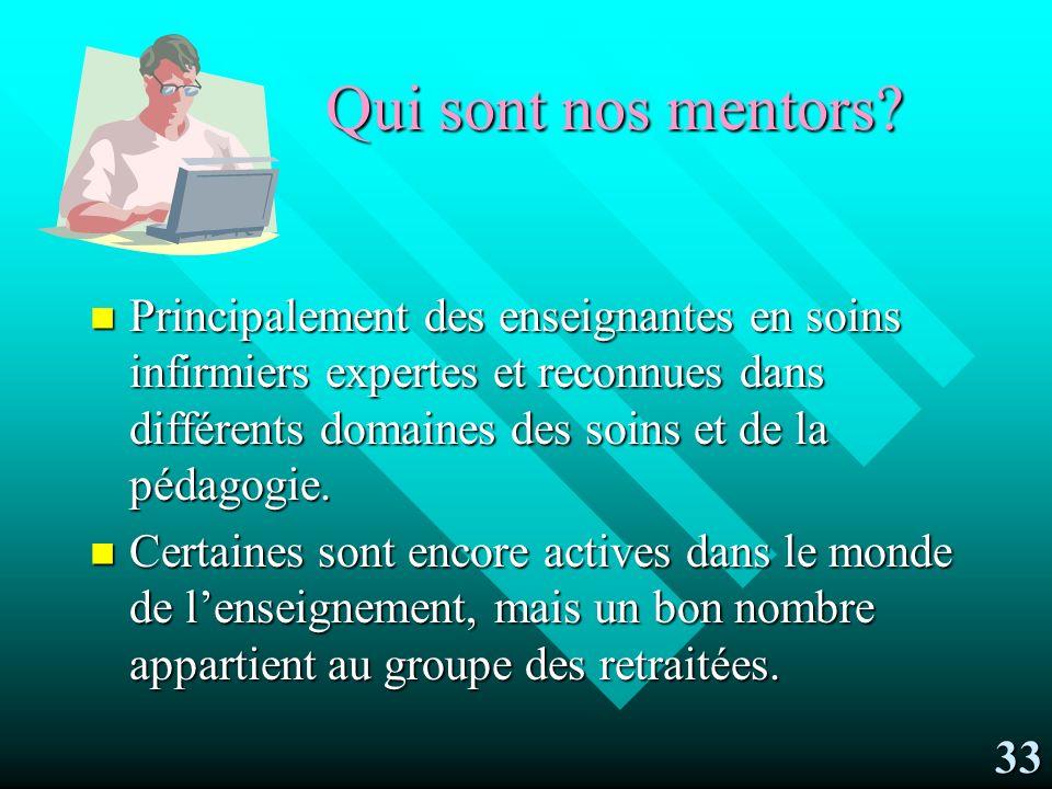 Le rôle du mentor Appui et soutien pédagogiques, professionnels et techniques à la mentorée.