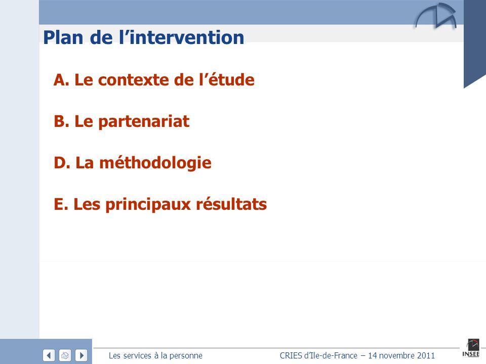 Les services à la personne CRIES dIle-de-France – 14 novembre 2011 A.