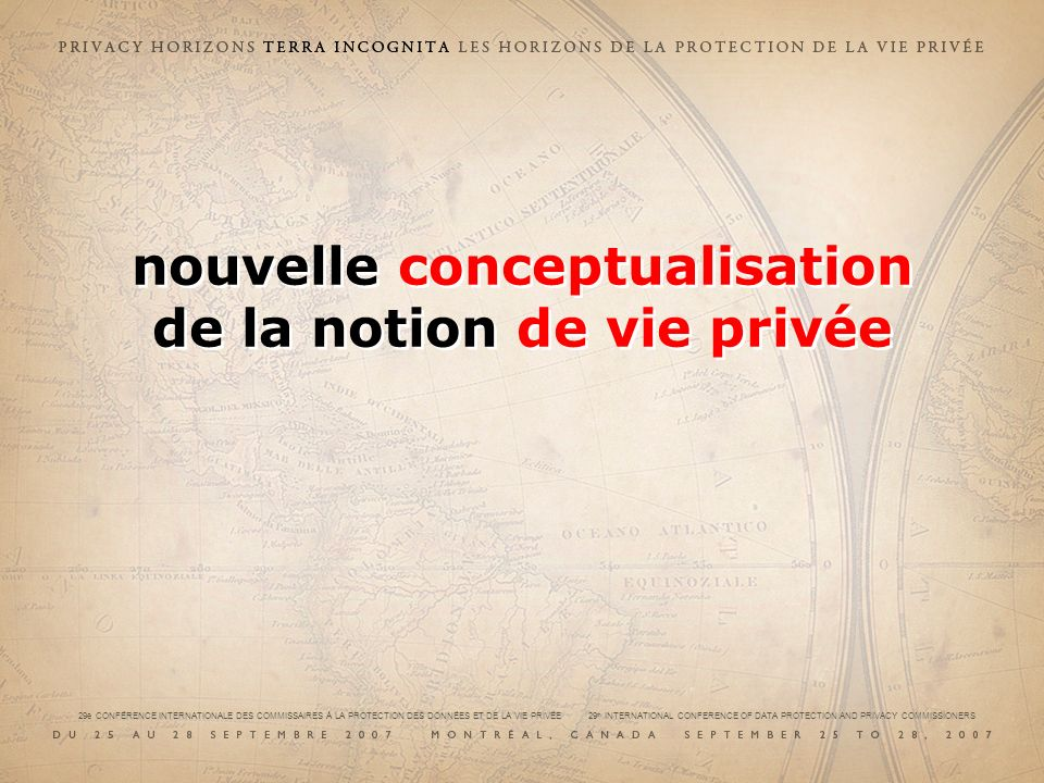 nouvelle conceptualisation de la notion de vie privée