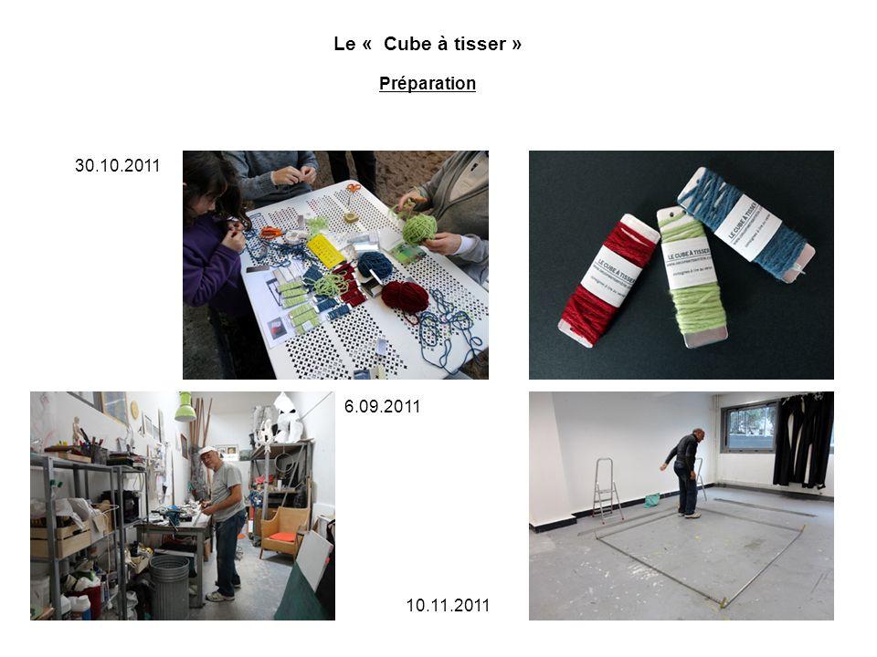 Le « Cube à tisser » Expérimentation / Tissage Expérimentation en taille réelle à Paris 1 Panthéon Sorbonne 14 novembre de 10h à 20 h dans une salle au premier étage…
