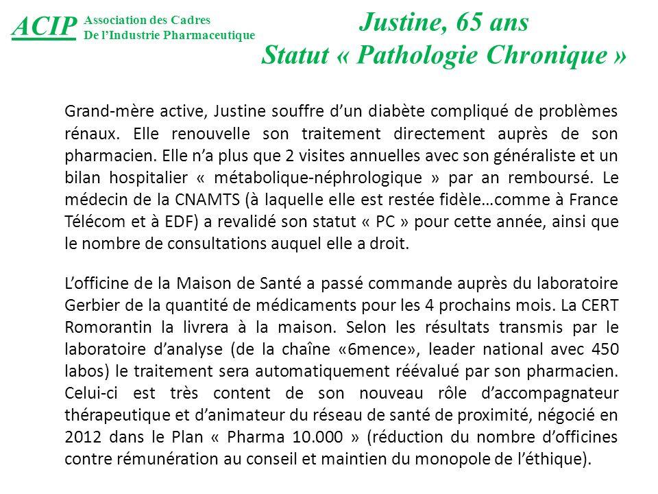 Grand-mère active, Justine souffre dun diabète compliqué de problèmes rénaux.