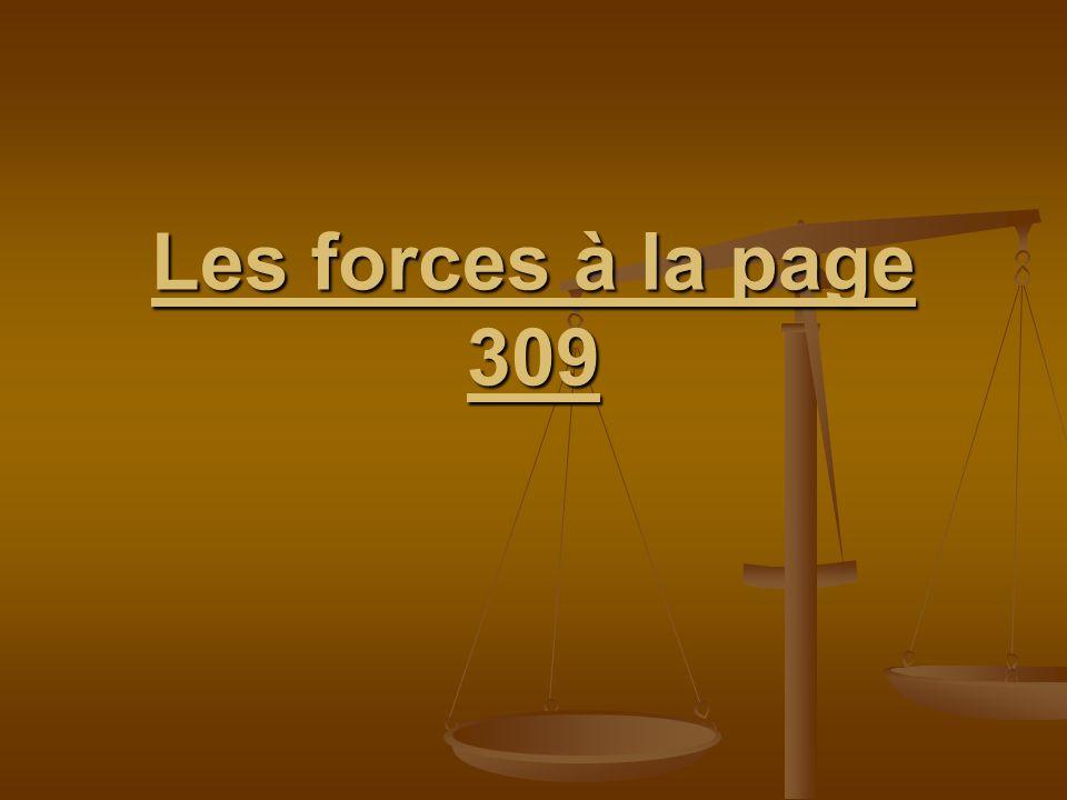 Les forces à la page 309