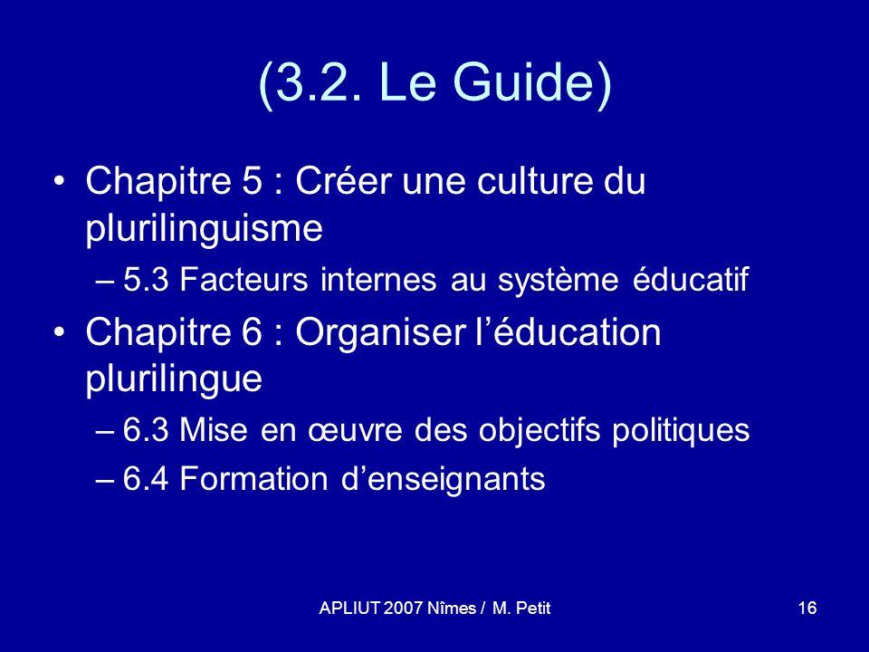 APLIUT 2007 Nîmes / M. Petit16 (3.2.