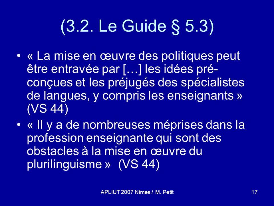 APLIUT 2007 Nîmes / M. Petit17 (3.2.