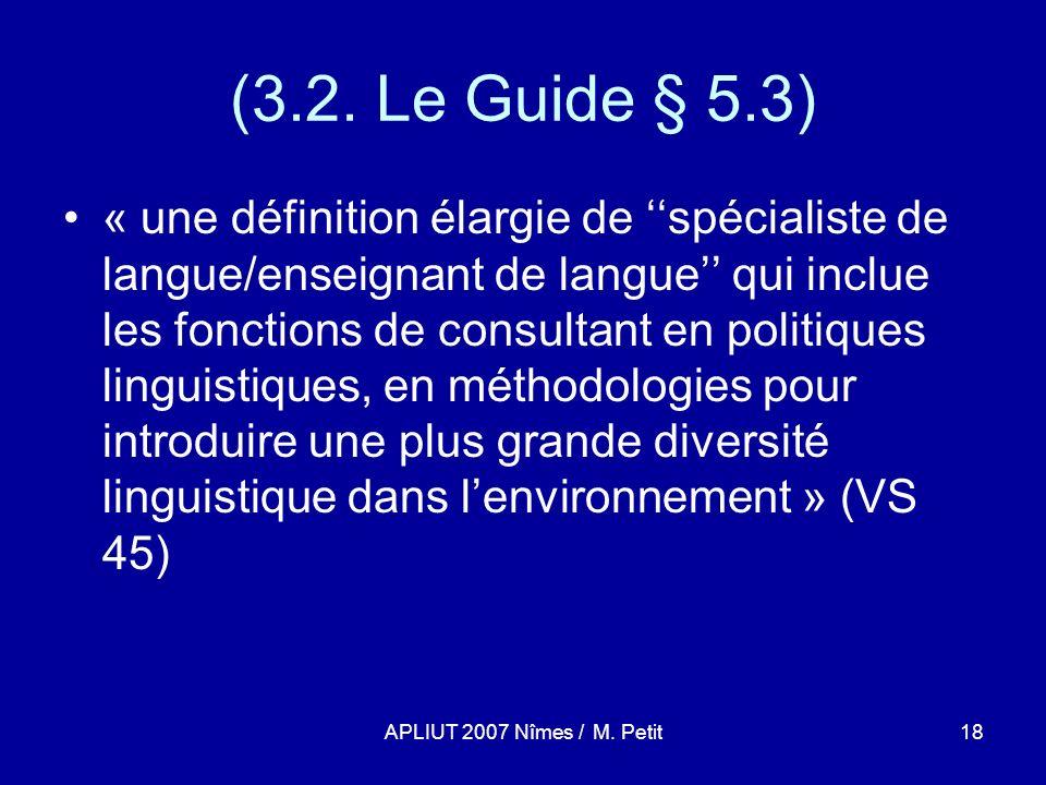 APLIUT 2007 Nîmes / M. Petit18 (3.2.
