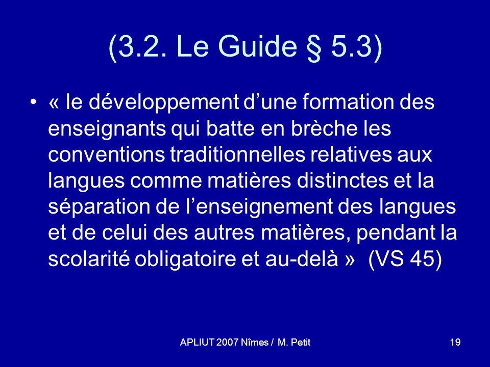 APLIUT 2007 Nîmes / M. Petit19 (3.2.